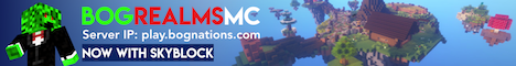 BogRealmsMC Now with Skyblock